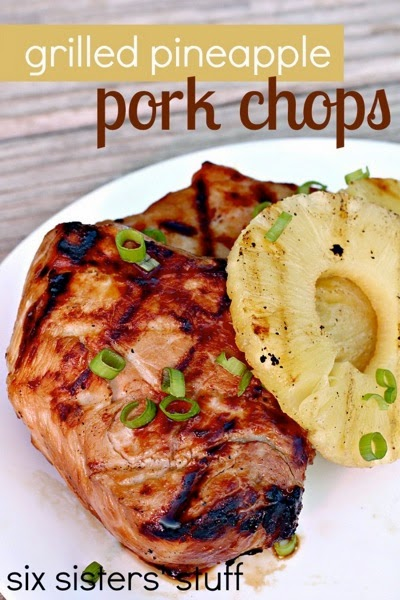 Six Sisters Grilled Pineapple porkchops