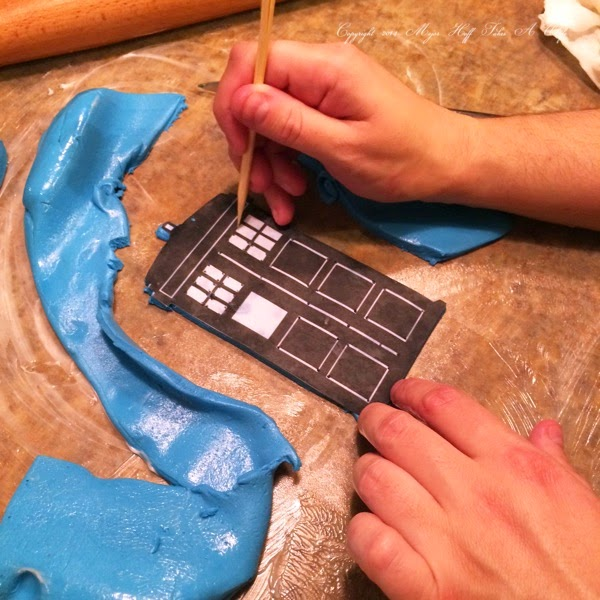 Tardis Stencil for Fondant Icing Shapes