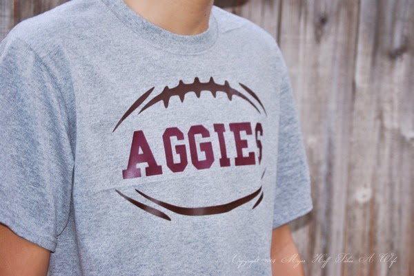 DIY Texas A M Aggies t shirt iron on