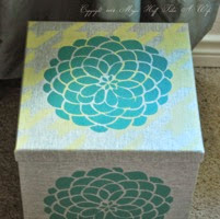 Decorate a storage box with stencils