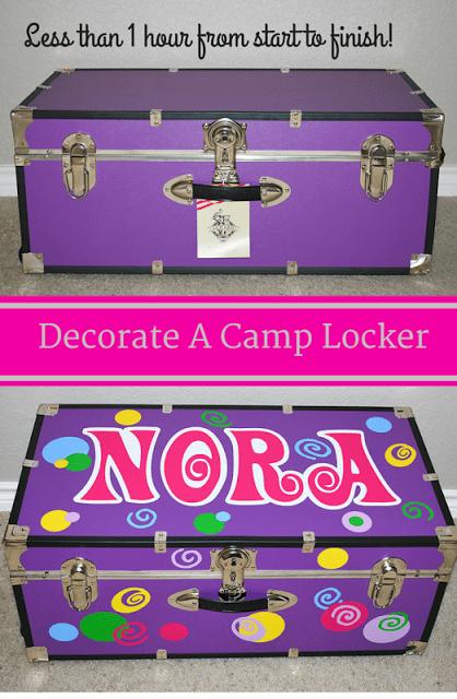 Decorate a camp locker with vinyl