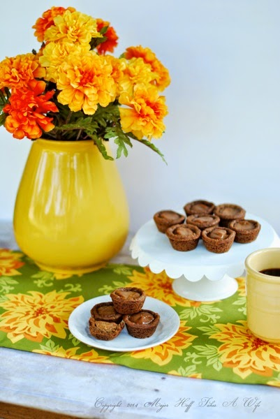 Fall flowers and sweets for coffee tea