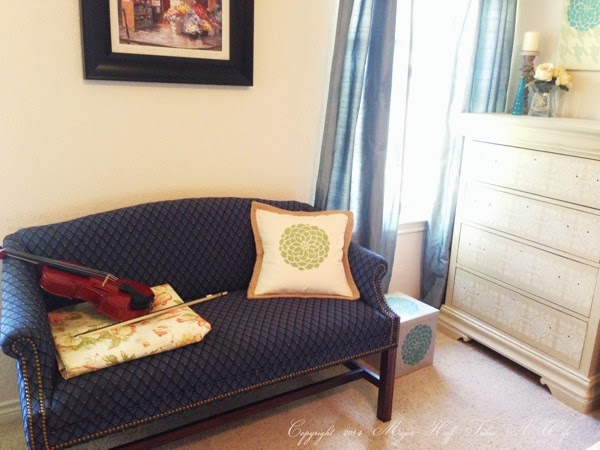 Using Tulip For Home Stencils to decorate a master bedroom