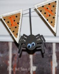 Cute Google Eye Spider Hanging on banner