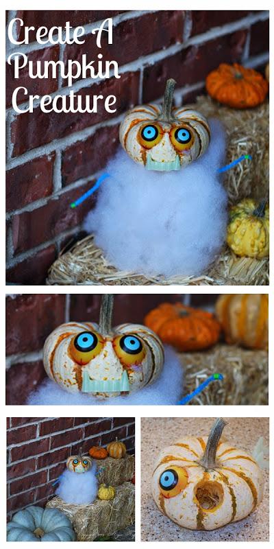 Halloween Pumpkin Designs How to make a pumpkin creature