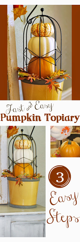 Pumpkin Topiary 3 easy steps