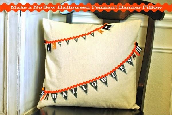 No sew happy halloween pillow pin