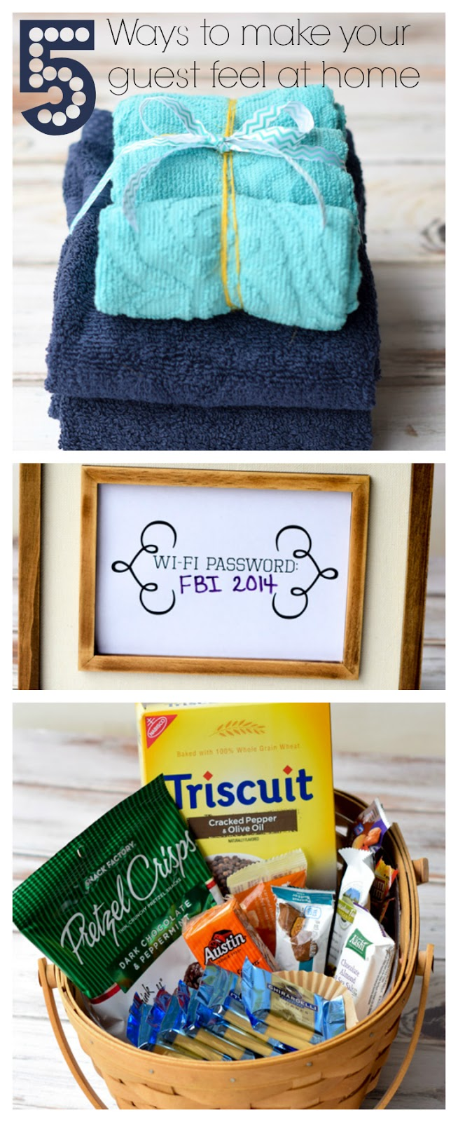 A list of 5 tips to make an overnight guest feel at home. Includes fresh towels and toiletries, snacks, coffee and more! Learn about getting your house ready for guests (or the holidays!) with a Bissell Deep Clean Upright Cleaner & Bissell Deep Cleaning Formulas with Scotchgard Protector. Includes a giveaway for a fabulous Bissell machine! #sp #ad #giveaway #cleaning #holidays