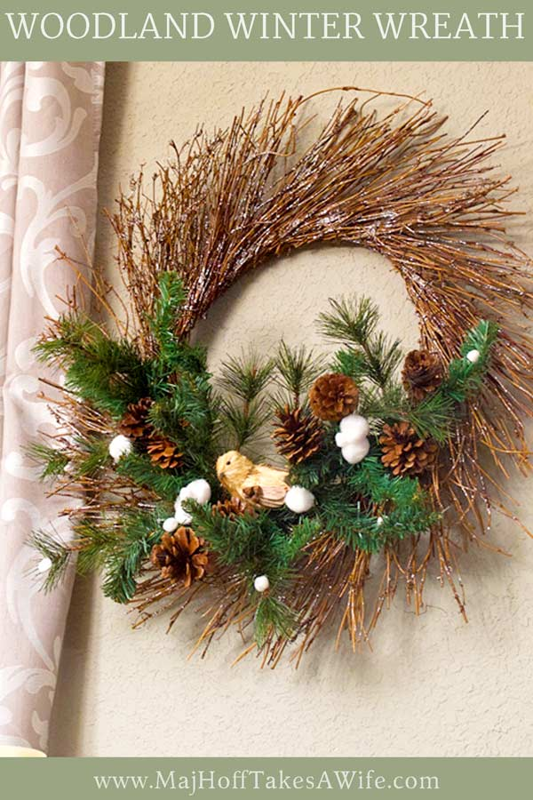 This DIY winter wreath will take you from after Christmas to well past January. It can be for the front door, or as a home decor accent inside. Easy to recreate, it features evergreen picks on a grapevine sunburst wreath form. It's simple to make at home and is neutral enough to last until spring! via @mrsmajorhoff