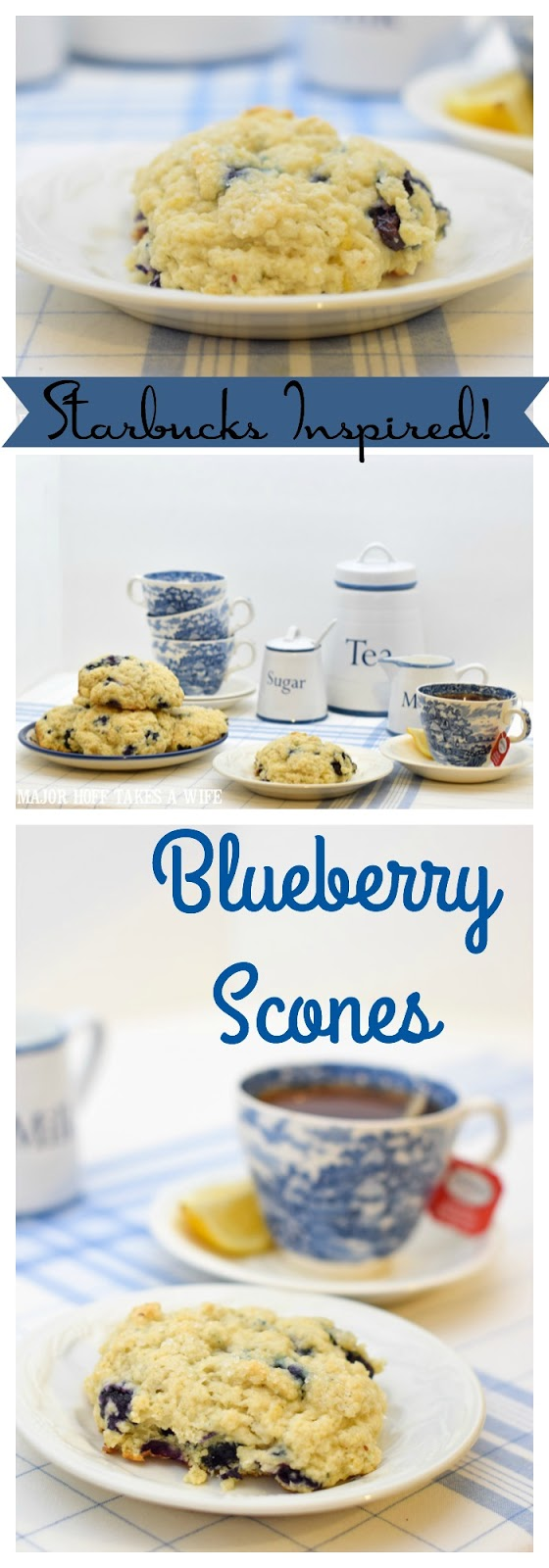 A melt in your mouth recipe for blueberry scones. Inspired by Starbucks in house version, this blueberry scone with hints of lemon and a crunchy sugary top will delight everyone. Serve during High Tea, or just as a mid afternoon snack. Perfect along side tea or coffee, or as a stand alone blueberry dessert. You won't believe how easy these are to make! Never made scones before? Never fear, this includes a step by step tutorial on how to make scones. #HighTea #blueberries #Starbucks #scones #dessert