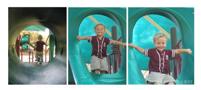 Playtime on the playground. Free of Eczema.