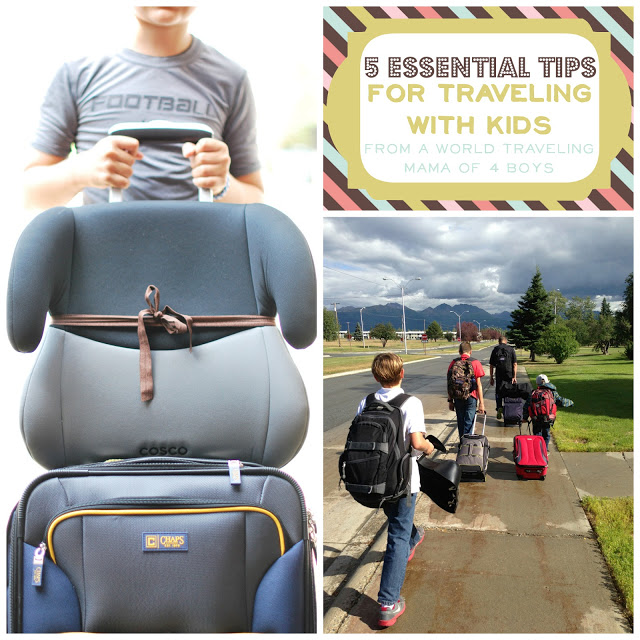 5 Tips for Traveling with Kids. Brought to you by a world traveling mother of 4 boys.