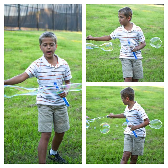 Bubbles entertain all ages.