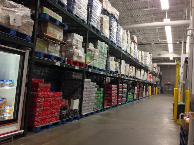 Sam's Club soda aisle.