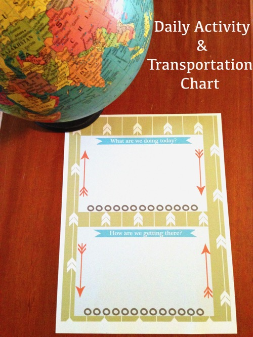 Daily activity and transportation chart. Features an easy to use free printable daily Activity and Transportation guide. Super busy mom? Teenage boys love Stouffer's Fit Kitchen meals. #powerfulprotein #ad #cbias #proteinup #freeprintable #timemanagement