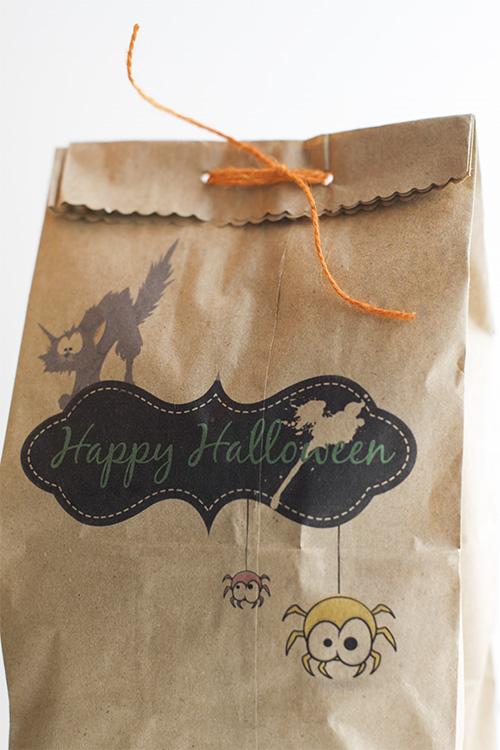 DIY Printable treat bags for Halloween