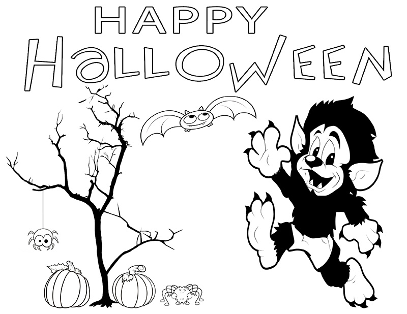 Happy Halloween coloring pages printables