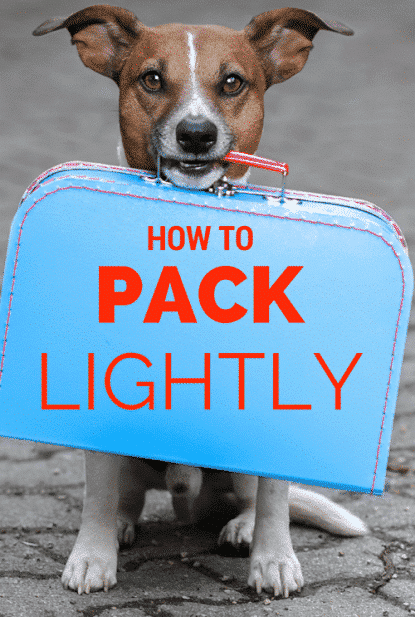 How to pack lightly