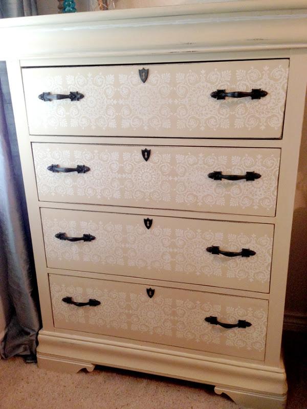 Amazing stenciled dresser