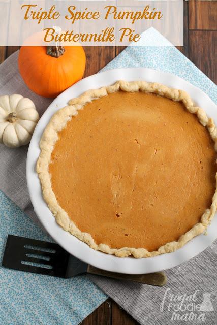 Triple Spice Pumpkin Buttermilk Pie Titled