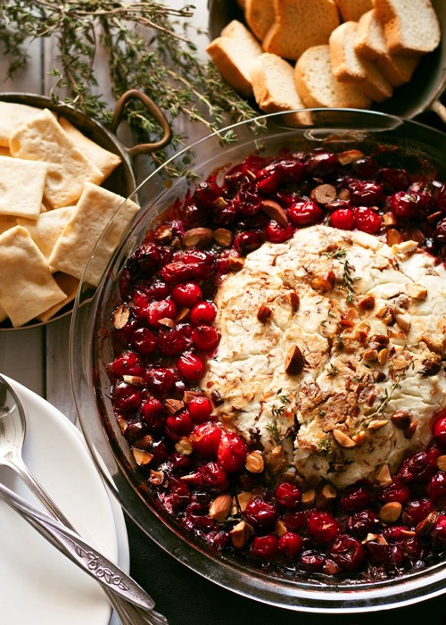 Baked goat cheese roasted cranberry appetizer 2 680x952