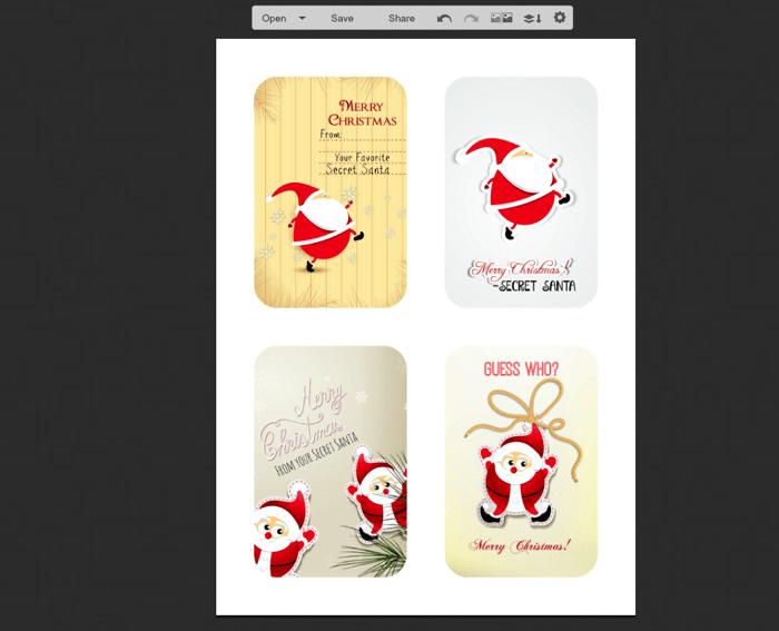 Free editable and printable christmas gift tag from santa's.