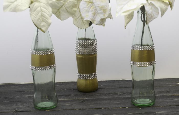 gold holiday coke bottles