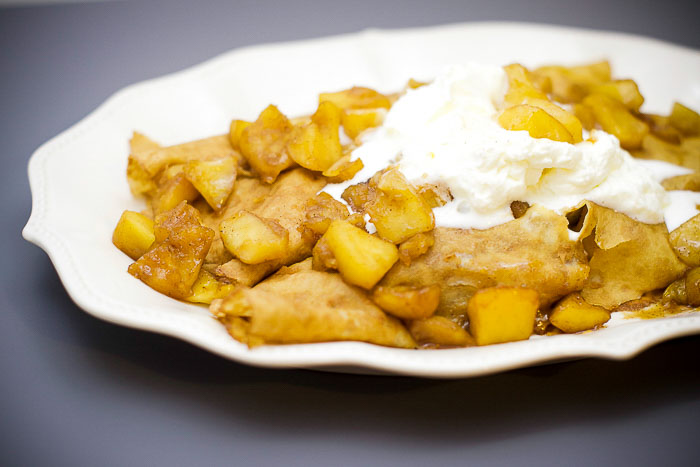Easy to make apple crepe recipe