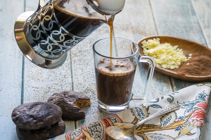 Coffee in a mocha recipe