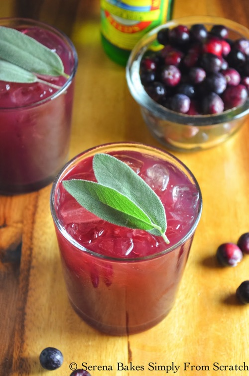 Cranberry Sage Moscow Mules