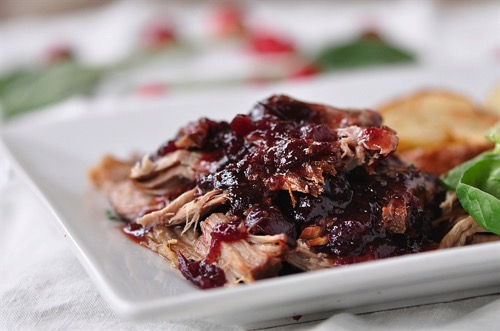 Crockpot Cranbery Pork Roast