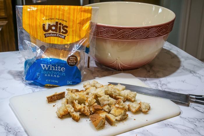 Udi's Gluten free bread for stuffing