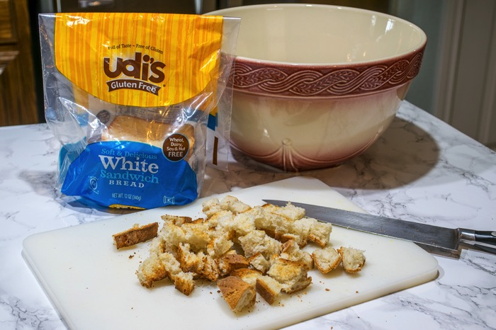 Udi's Gluten free bread for stuffing