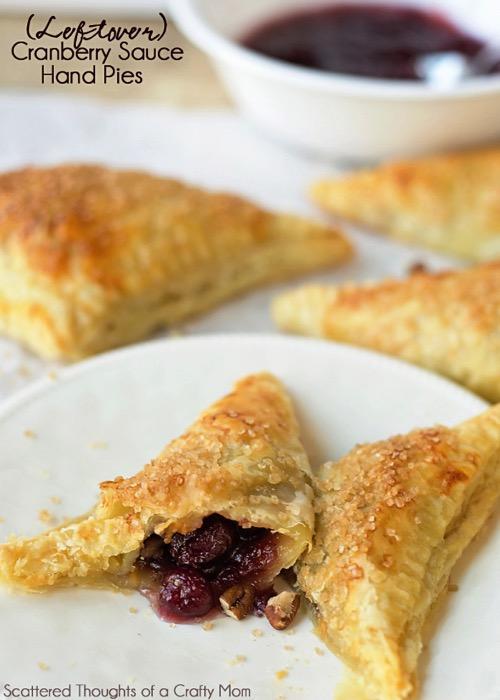 Leftover Cranberry sauce hand pies