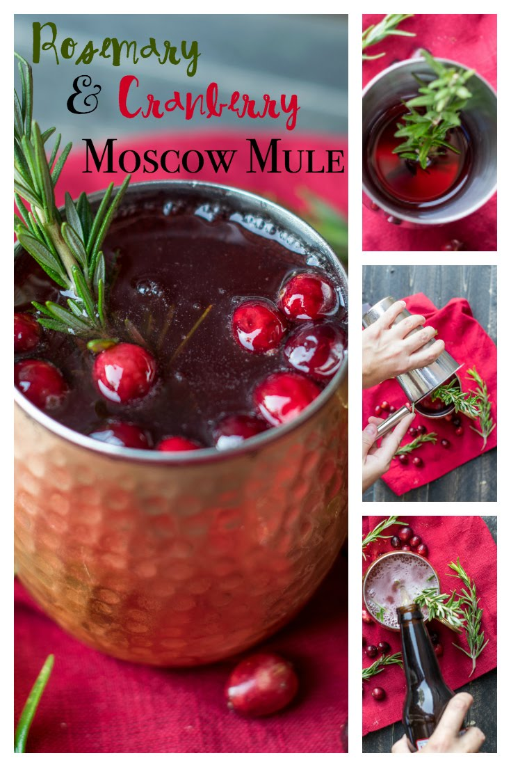 Rosemary Cranberry Moscow Mule