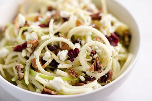 Spiralized Apple Cranberry Salad The Creative Bite