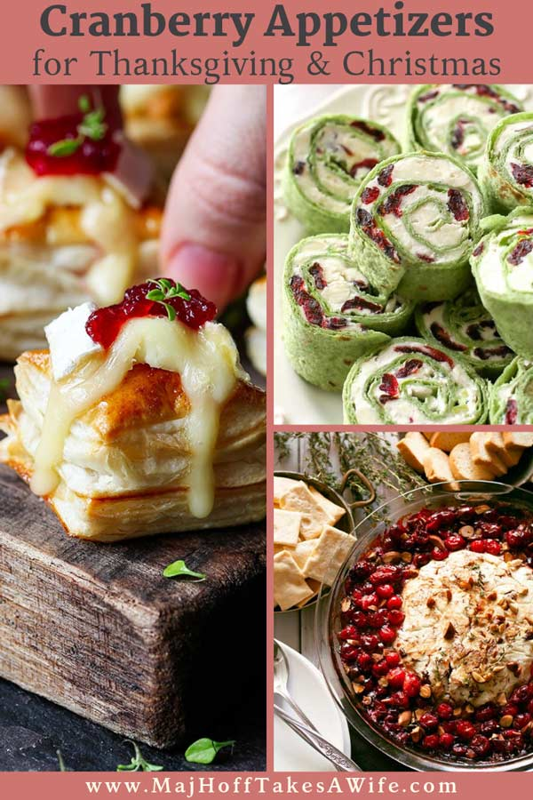 Looking for a cranberry appetizer for your holiday parties? Look no further! Grab some brie, puff pastries, or crescent rolls to pare with cranberries and whip up some of the best Christmas or Thanksgiving appetizers! The best MUST HAVE list of favorite cranberry appetizer recipes! #thanksgivingappetizers #Christmasappetizers #cranberryrecipes #MHTAW