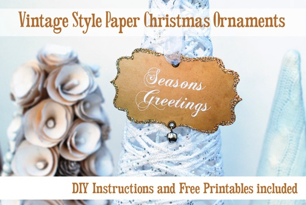 DIY Vintage style paper Christmas ornaments