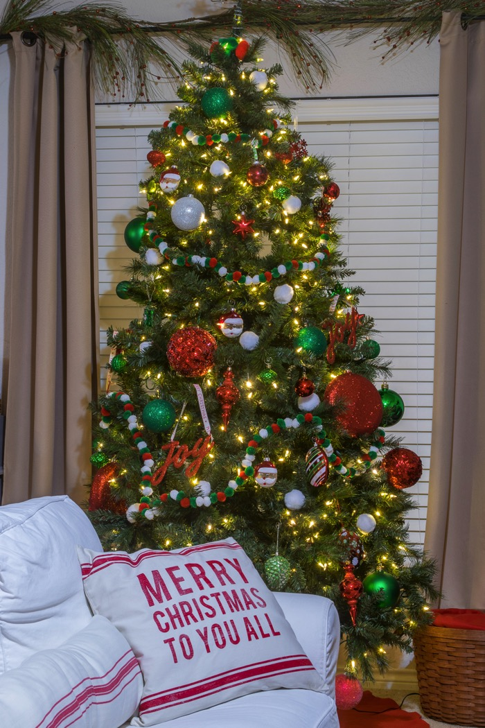 Red, green and white classic Christmas decor
