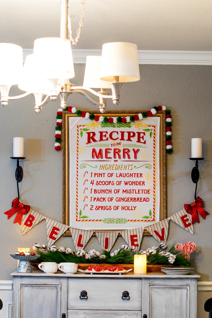 Fixer Upper Inspired Holiday Home Tour Dining Room