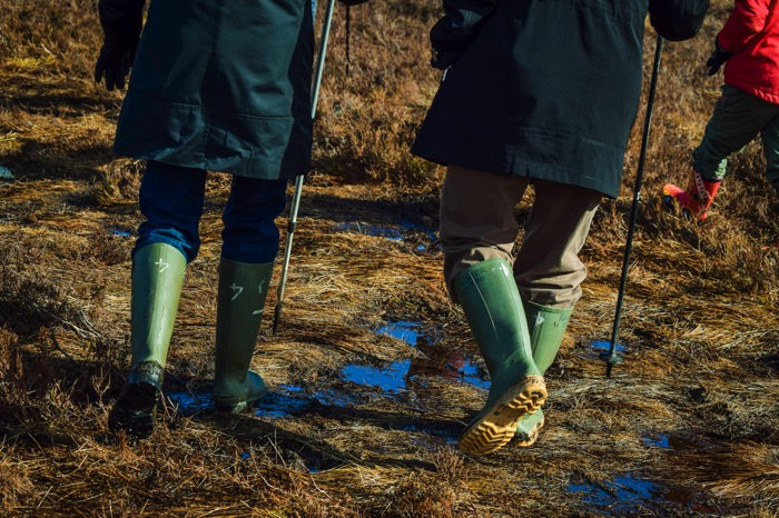Rain boots for hiking in the Cairngorms