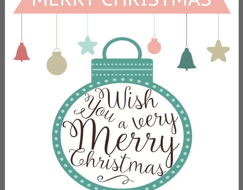 Merry Christmas Free Printable