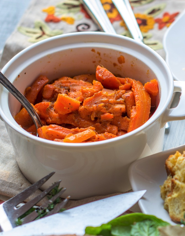 cooked carrots in pressure cooker