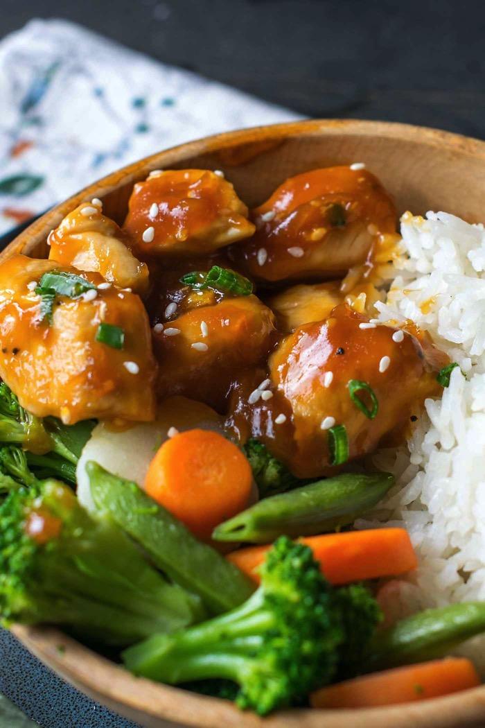 Orange chicken is a quick gluten free meal