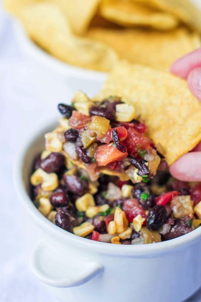 3 pepper black bean and corn salsa