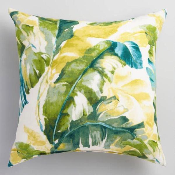 outdoor palm pillow