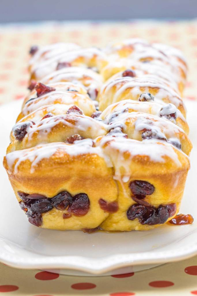 Pull apart orange cranberry bread is a cinch to make!