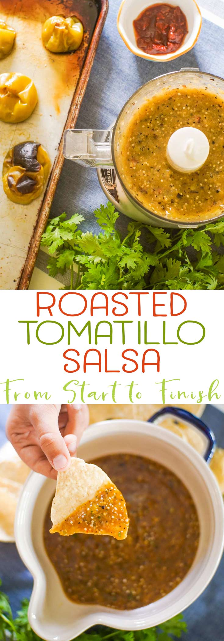 Learn how to make easy homemade tomatillo salsa at home. Tips and tricks to pick the right ingredients and make restaurant quality salsa at home! via @mrsmajorhoff
