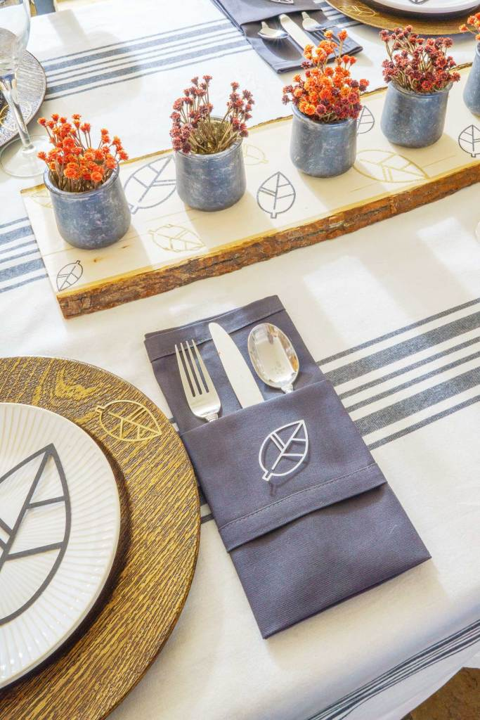 Modern Rustic Fall Tablescape with a Cricut Machine