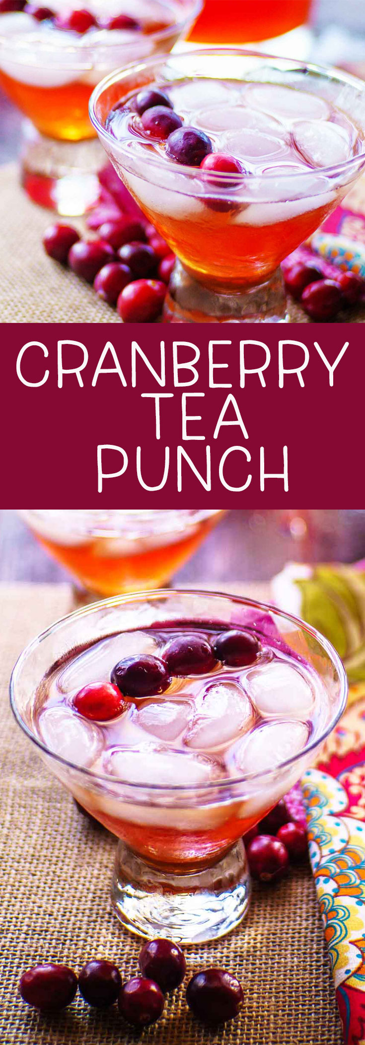 Cranberry tea punch is a perfect holiday beverage. It's a great mocktail full of Milo's sweet tea, cranberry cherry juice, and soda for bubbles. #ad @MilosTea #PassTheMilos #Pmedia via @mrsmajorhoff